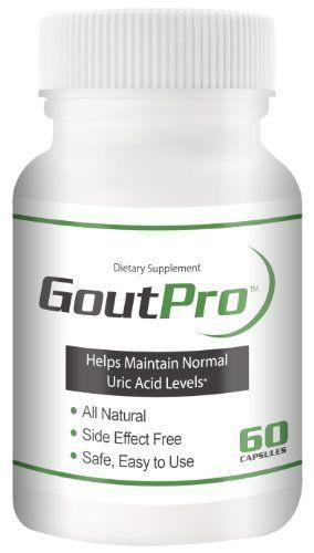 $24.97 Gout Pro - Uric Acid Cleanse - Inflammation Supplement for Joint Pain Relief - 60ct