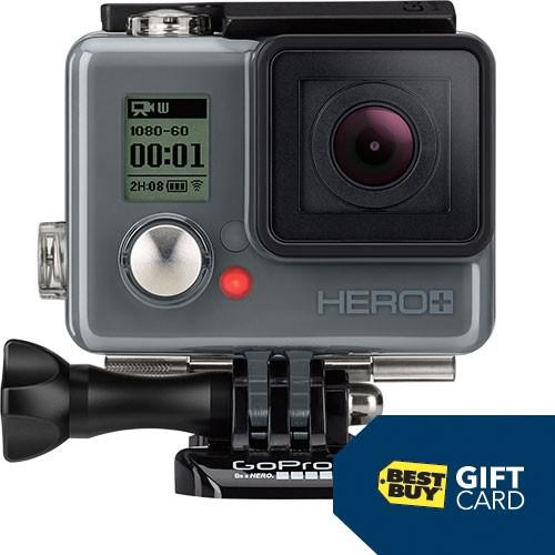 $299.99 GoPro HERO+ LCD HD Action Camera and $30 Best Buy Gift Card