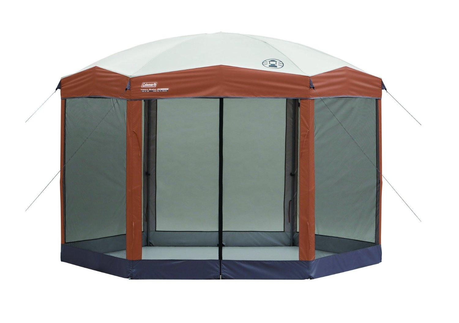 Lowest price! Coleman 12-by-10-foot Hex Instant Screened Canopy/Gazebo
