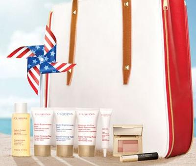 Dealmoon Exclusive EARLY access!  FREE Tote Bag + 7-piece travel size gift + 3 free samples with Any $75 Purchase @ Clarins