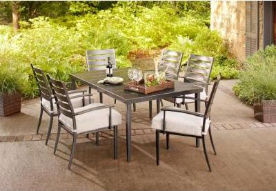 $299.5 Hampton Bay Marshall 7-Piece Patio Dining Set