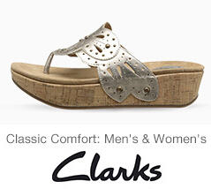 Up to 70% Off Clarks Shoes @ 6PM.com