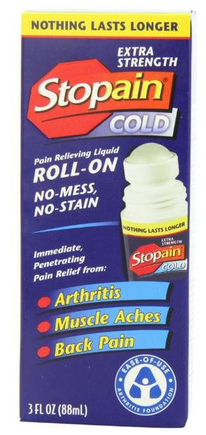 0 Stopain Extra Strength Pain Relief Roll-On, 3 Ounce