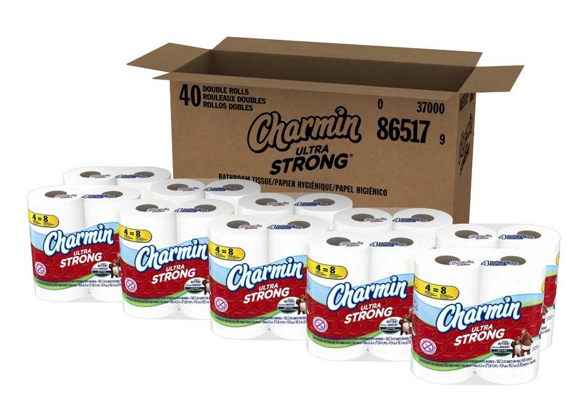 $18.87 Charmin Ultra Strong Toilet Paper 40 Double Roll (10 Packs of 4 Double Rolls)