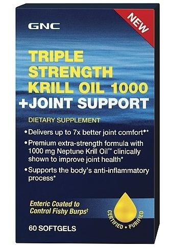 $18.74 GNC Triple Strength Krill Oil 1000 + Joint Support 60 softgels