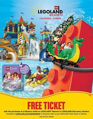 Free Legoland Tickets with Any Lego Purchase @ LEGO Company Ltd