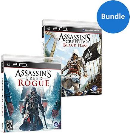 $14.99 Assassin's Creed Black Flag and Rogue Bundle Walmart Exclusive (PS3)
