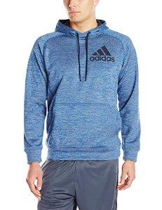 $12.74 adidas Men's Team Issue Pullover Hoodie Blue Beauty/Colored Heather/Phantom LG: Sports & Outdoors
