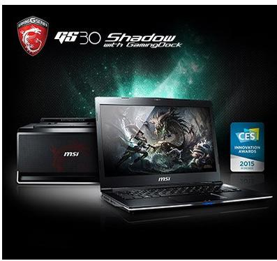 $1308.51 MSI GS30 SHADOW-001 13.3-Inch Gaming Laptop