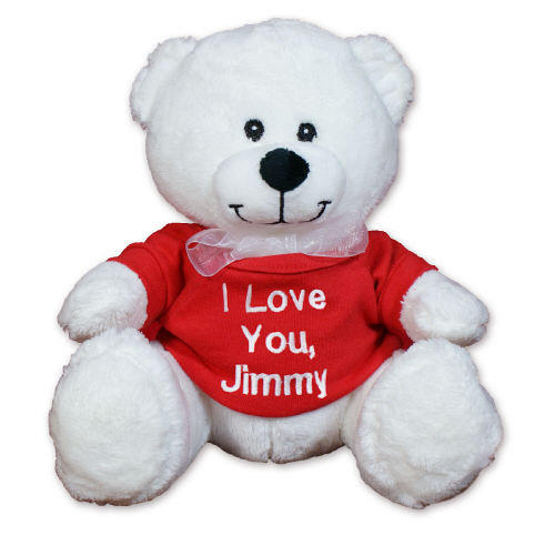 "$10.98 Embroidered Any Message Teddy Bear - 8"" + $5 ship @ 800Bear"