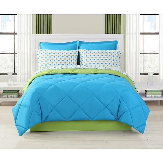 $32.97 Turquoise Dot Complete Bedding Set
