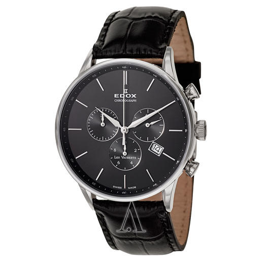 $199 Edox Men's Les Vauberts Chronograph Watch 10408-3N-NIN