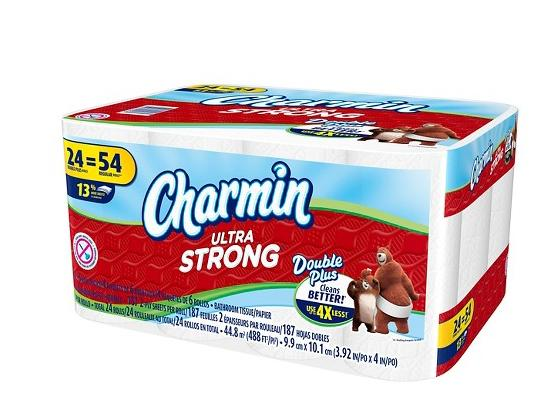 Free $10 Gift Card $38.97 Charmin® Ultra Strong™ Toilet Paper 24 Double Plus Rolls