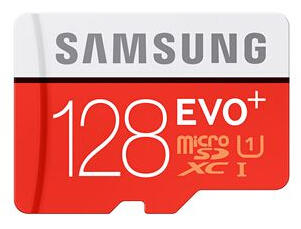 Samsung 128GB MicroSDXC EVO+ Flash Card MB-MC128DA/AM