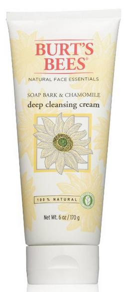 Burt's Bees Soap Bark and Chamomile Deep Cleansing Cream, 6 Ounce (Pack of 3)