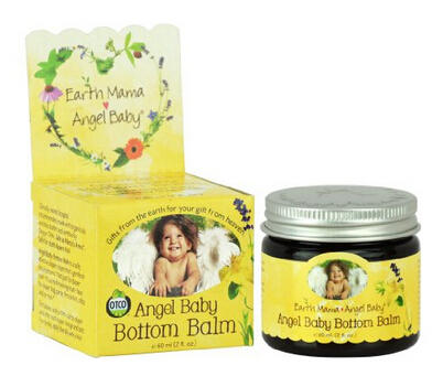 0 Earth Mama Angel Baby Bottom Balm Zinc & Lanolin Free Calendula Herbal Diaper Cream