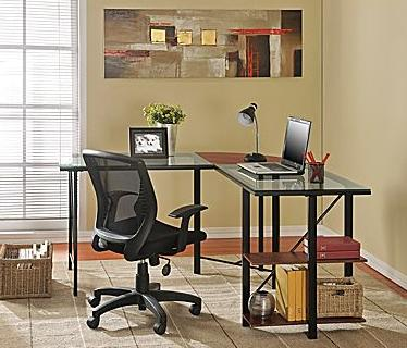 $79.99 Altra Furniture Aden Corner Glass Computer Desk