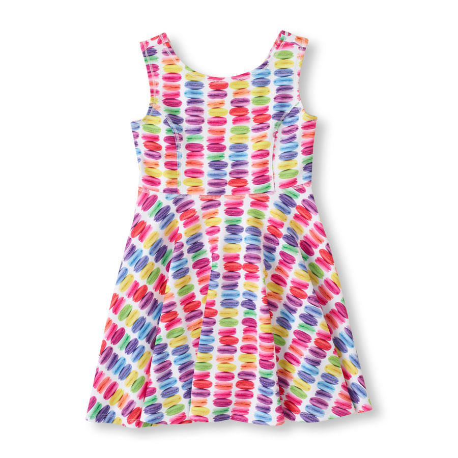 $3.99 The Children's Place Girls' Photo-Real Treat Skater Dress