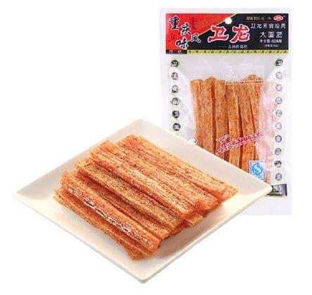 Back in Stock! $1.5 Spicy Gluten Wei Long La Tiao, 128g