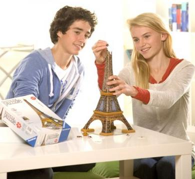 $14.83 Ravensburger Eiffel Tower 216 Piece 3D Building Set