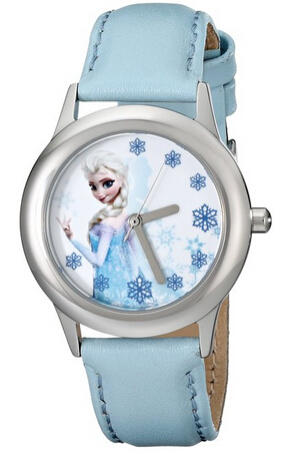 Disney Kids' W000971 Frozen Snow Queen Elsa Stainless Steel Watch