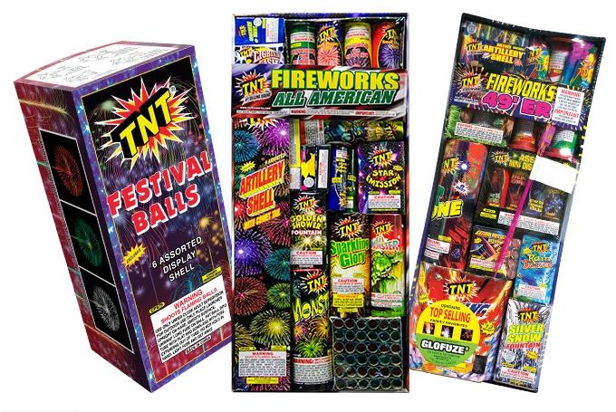 $8.00 $20 Worth of Fireworks at TNT Fireworks Stands, Tents, and Retail