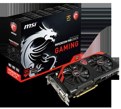 $184.99  (Refurbished)MSI Radeon R9 290X GAMING 4GB 512-bit GDDR5 PCI Express 3.0 x16 HDCP Ready CrossFireX Support Video Card
