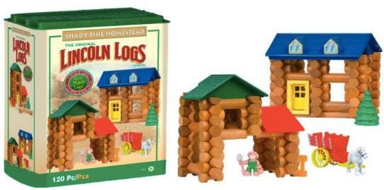 $21.99 Lincoln Logs Shady Pine Homestead Set @ Amazon.com