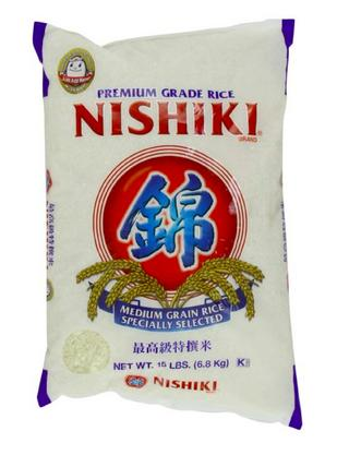 $15.19 Nishiki Premium Rice, Medium Grain, 15-Pound Bag