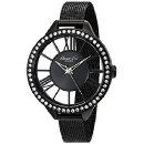 $49.99 Kenneth Cole New York Women's 10019679 Transparency Black Stainless Steel Watch with Mesh Band