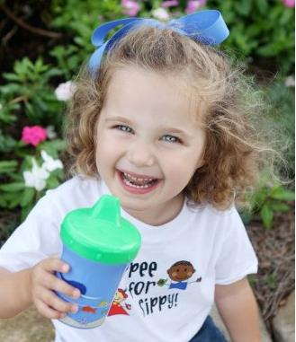 $4.7 Sippy Sure The Medicine Dispensing Sippy Cup, Blue/Green