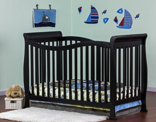 $149.99 Dream On Me Violet 7 in 1 Convertible Life Style Crib, Black