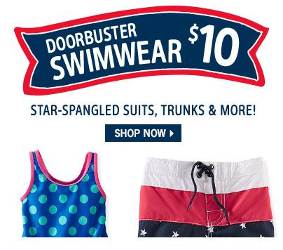 4th of July Sale $10 Swimwear Sale @ Oshkosh