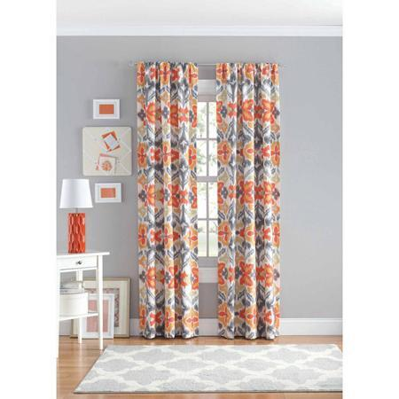 $8.97 Your Zone Ikat Polyester Curtain Panel (2 colors)
