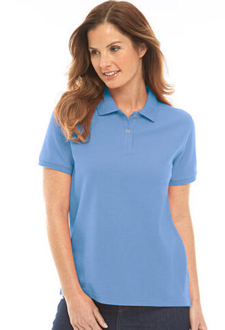 Women's Relaxed Fit Premium Double L Polo