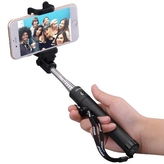 New Generation Selfie Stick, Mpow iSnap X One-piece U-Shape Self-portrait Monopod Extendable Selfie Stick with built-in Bluetooth Remote Shutter