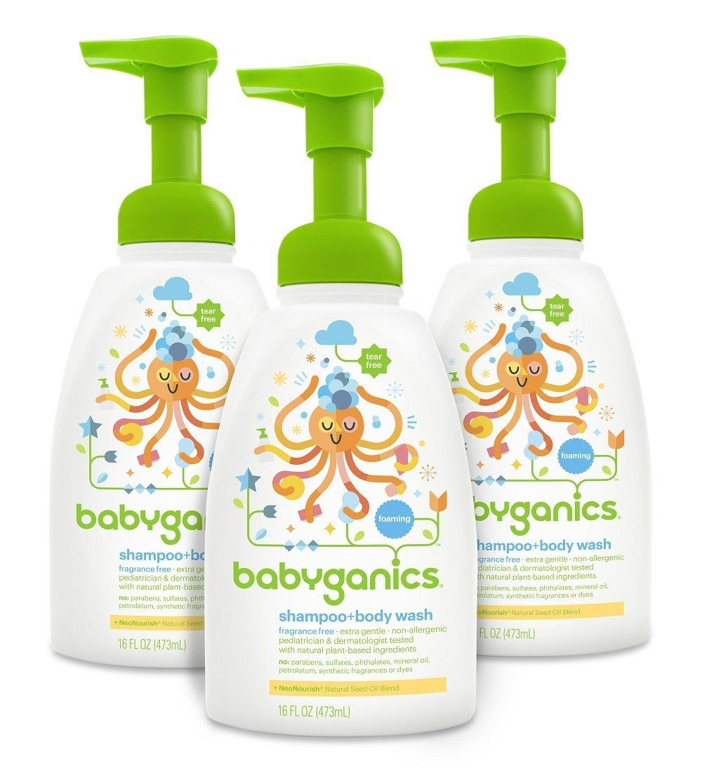 $23.49 Babyganics Baby Shampoo + Body Wash, Fragrance Free, 16oz Pump Bottle (Pack of 3)