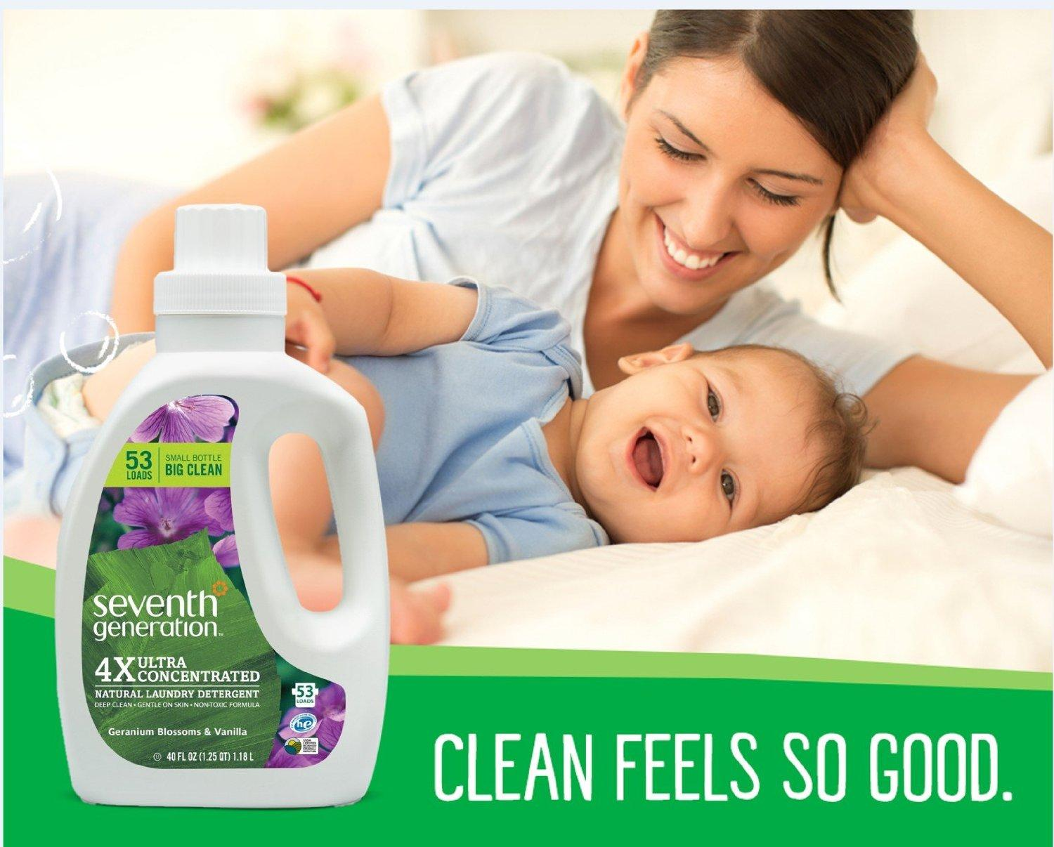 $14.81 Seventh Generation Liquid Laundry 4x, 2 Count