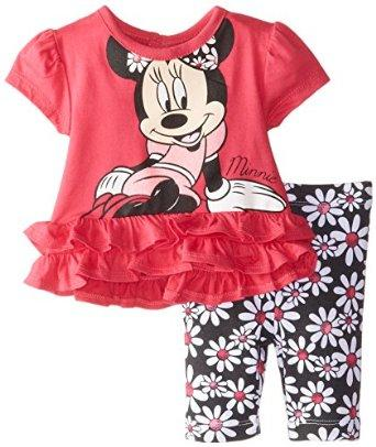 $14.5 Disney Baby-Girls Minnie Mouse Red Girl Legging Set