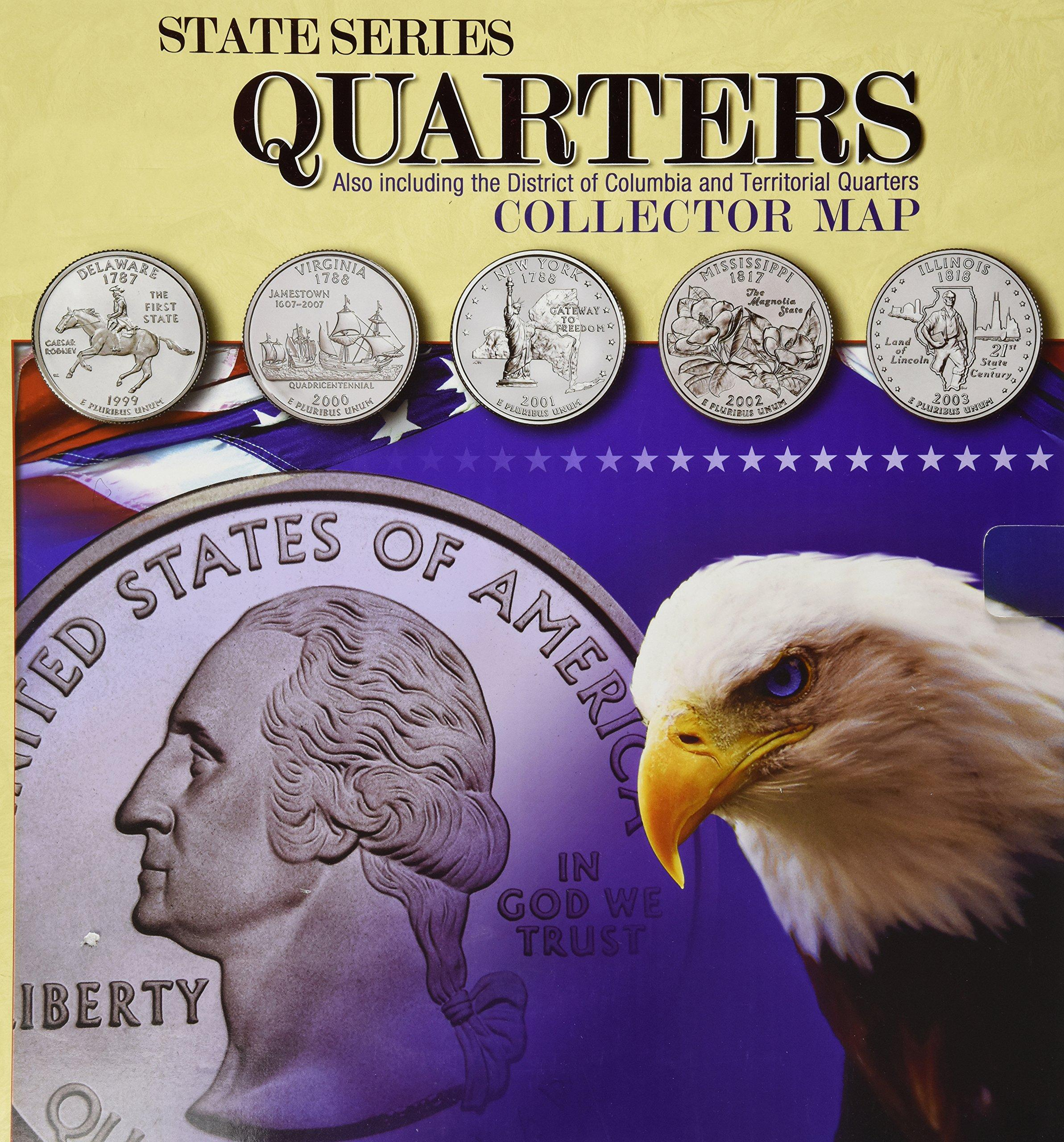 $7.62 State Series Quarters Collector Map: Also Including the District of Columbia and Territorial Quarters