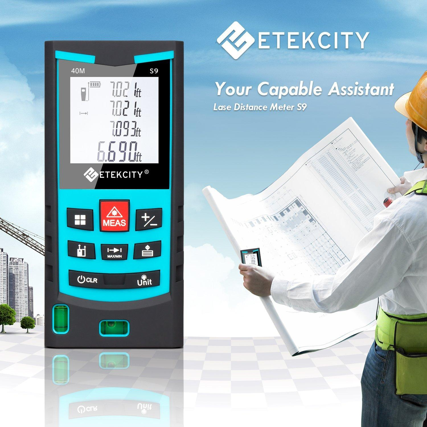 Etekcity S9 Class II Laser Distance Measurer Meter Kit