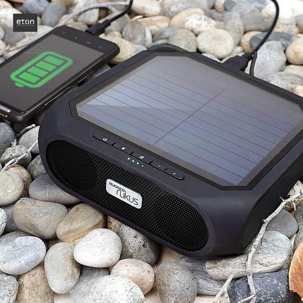 Eton Rugged rukus The solar-powered Bluetooth smartphone-charging speaker