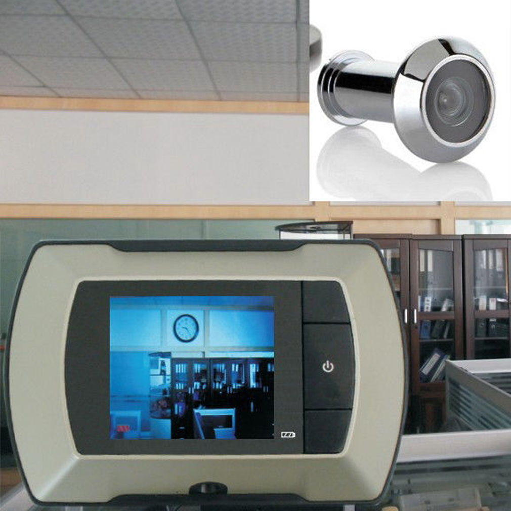 "$23.2 2.4"" LCD Visual Monitor Door Peep Hole Wireless Viewer Camera Video"