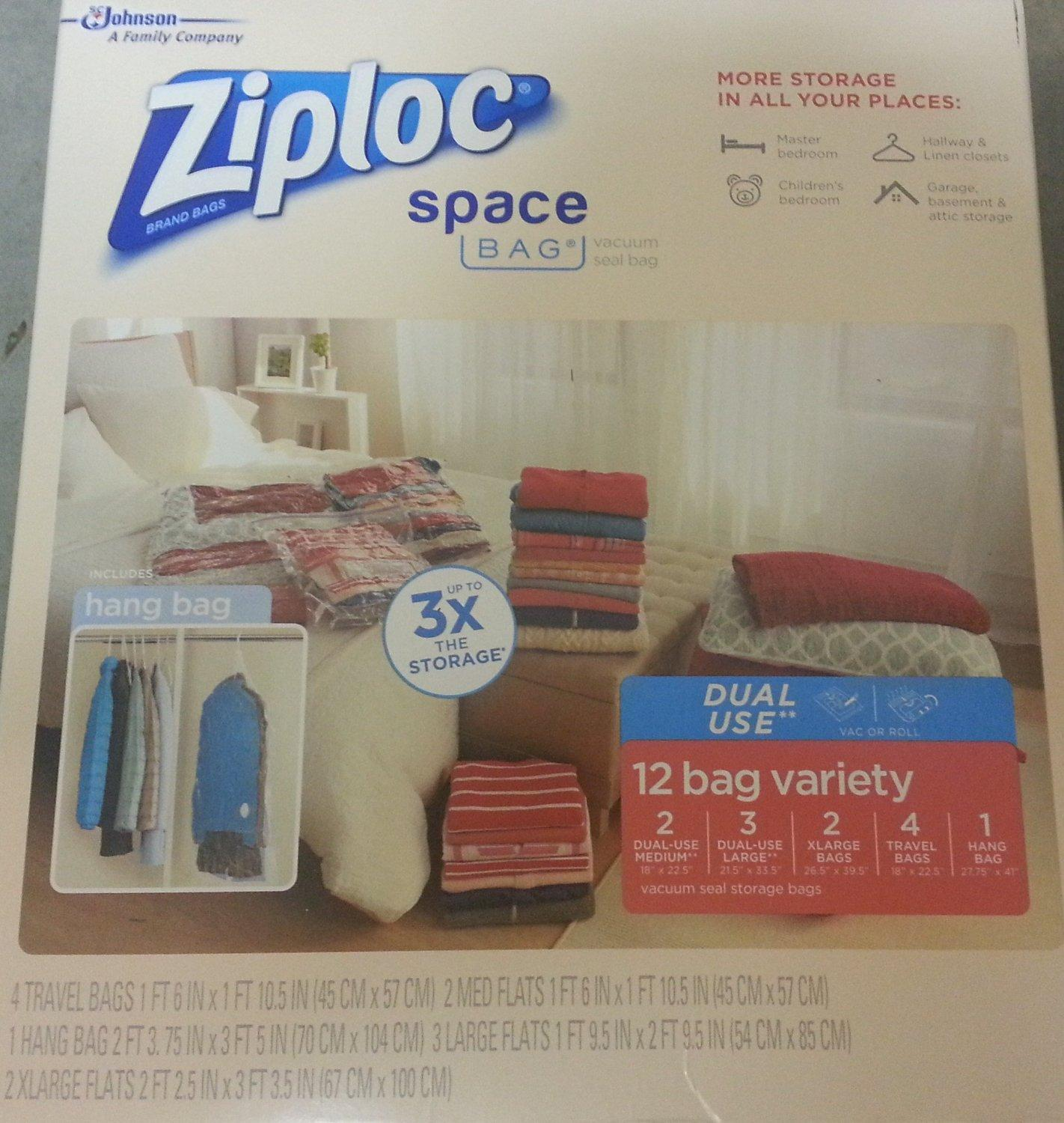 $25.92 Ziploc Space Bag Dual Use 12 Bag Space Saver Set
