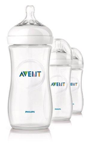 Philips Avent BPA Free Natural Polypropylene Bottle, 11 Ounce, 3-Count @ Amazon.com