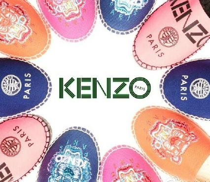 $132 Kenzo  Embroidered Tiger Espadrilles