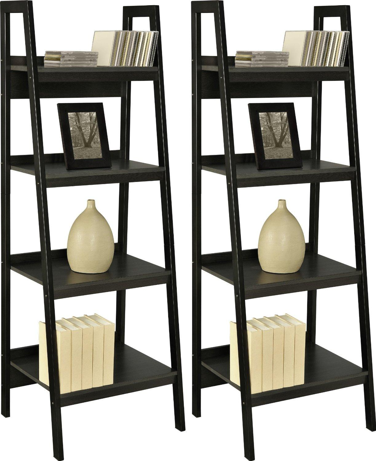 $89 Altra Furniture Metal Frame Bundle Bookcase Ladder, Black, Set of 2
