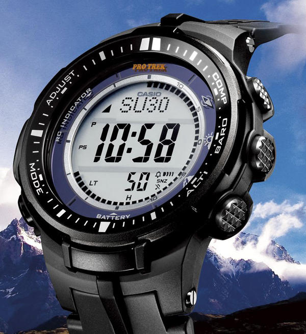 Casio Men's PRW-3000-1ACR Protrek Triple Sensor Multi-Function Watch