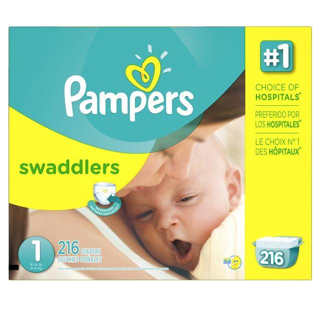 $42.27 Pampers Swaddlers Diapers Size 1 to 5 Economy Pack + Super Economy Packs