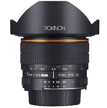 $189 Rokinon 8mm f/3.5 HD Fisheye Lens with Removeable Hood